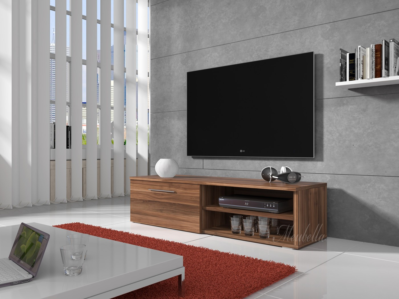 Tv meubel bash eiken 120 cm meubella for Tv meubel design