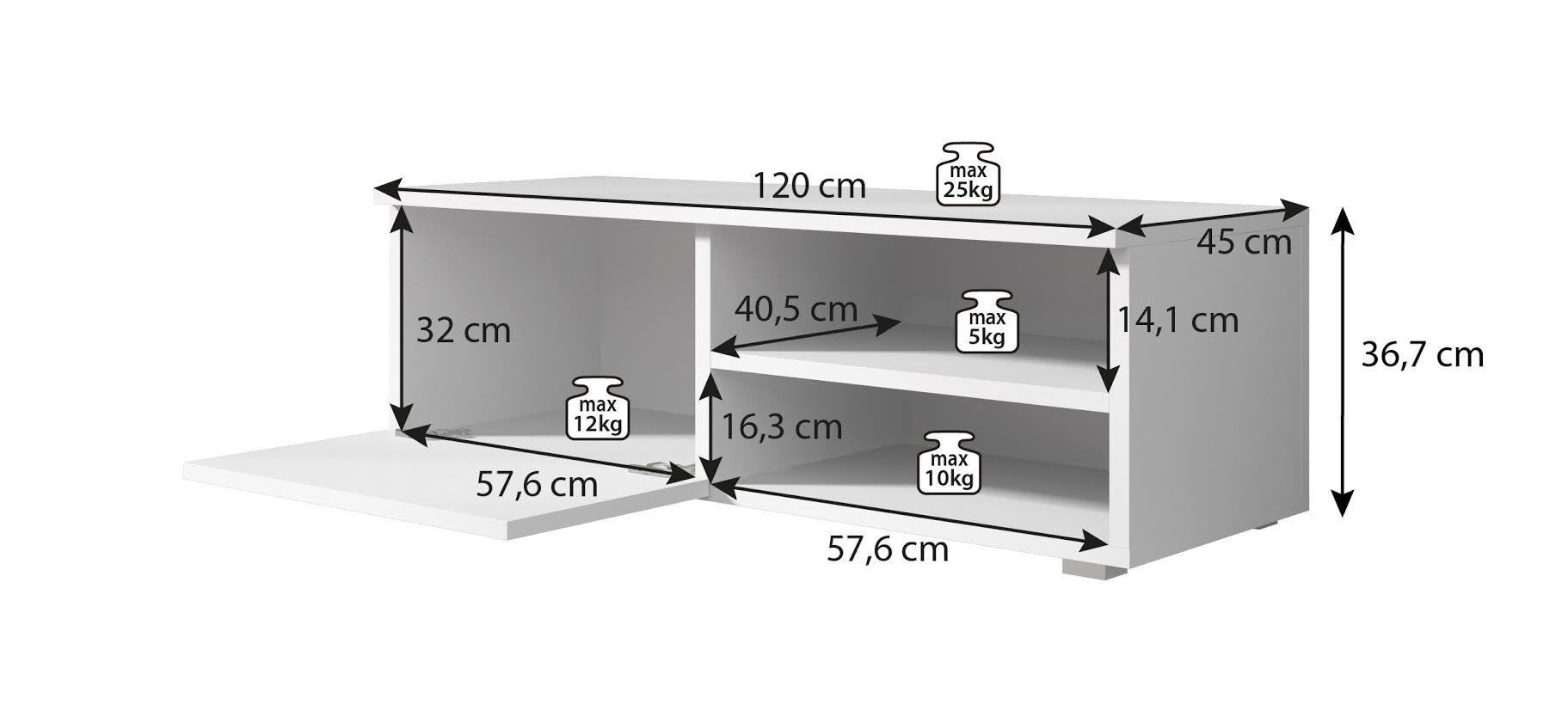 Tv Meubel Bash Eiken 120 Cm