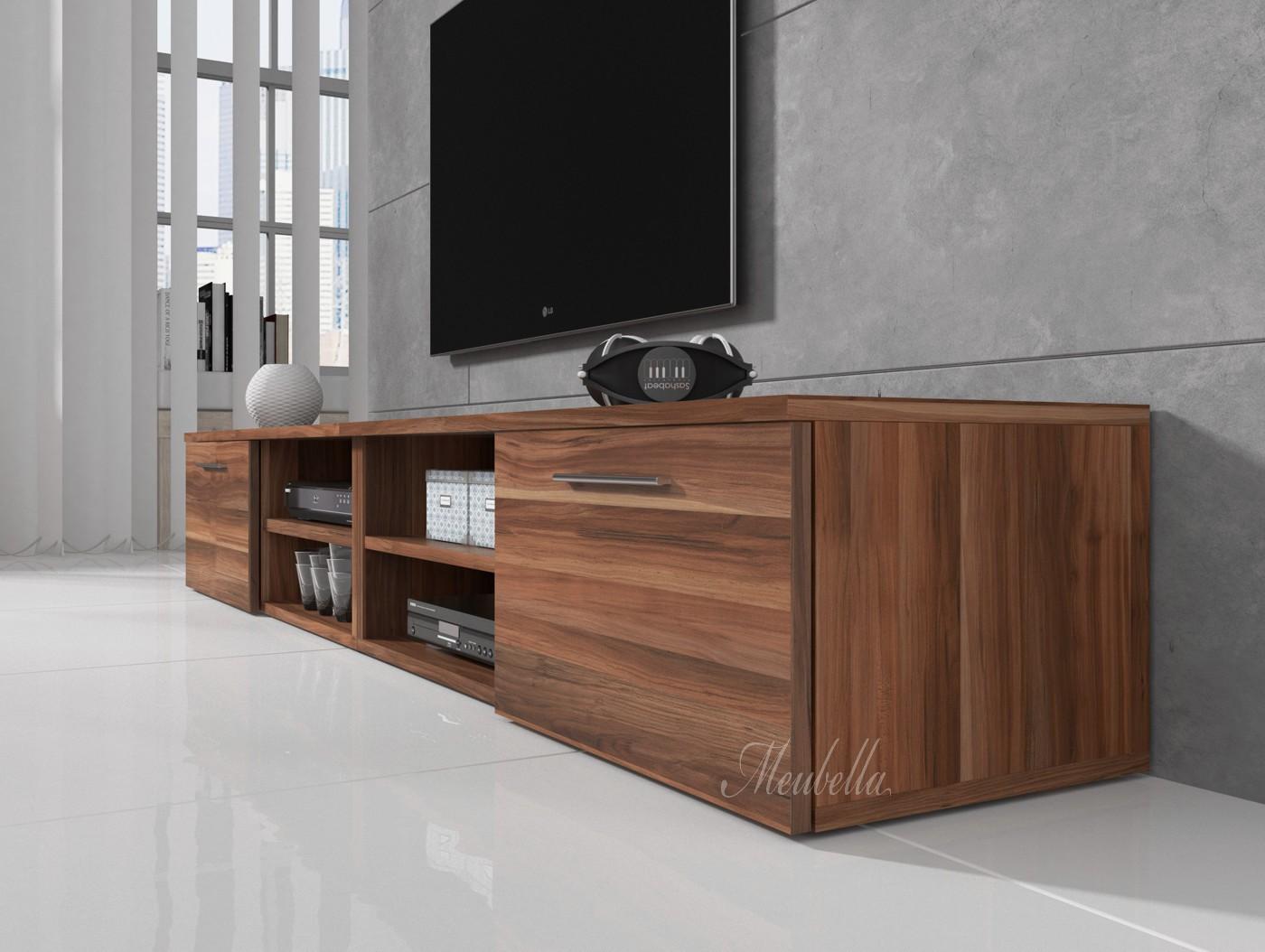 Tv meubel bash ii eiken 240 cm tv meubels kasten for Showroommodellen design meubels