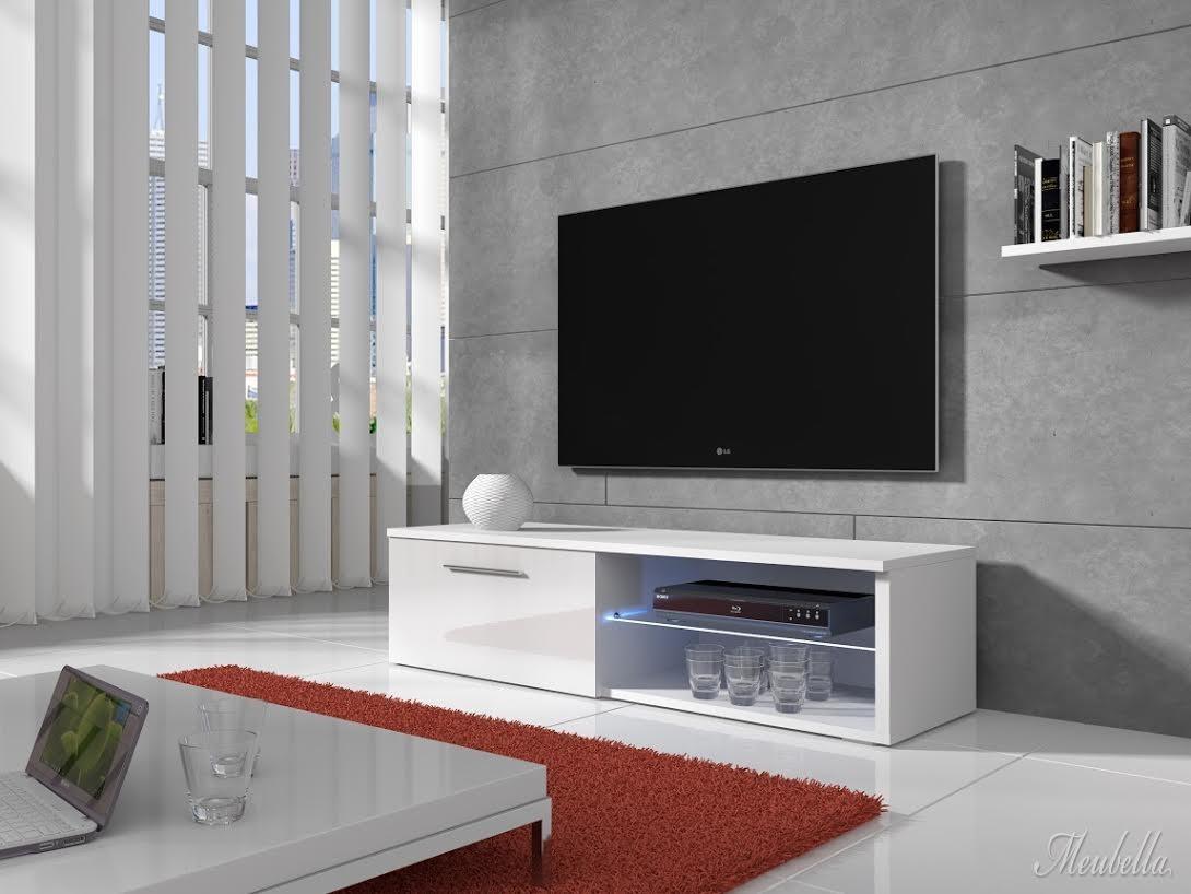 tv meubel bash led wit 120 cm meubella. Black Bedroom Furniture Sets. Home Design Ideas