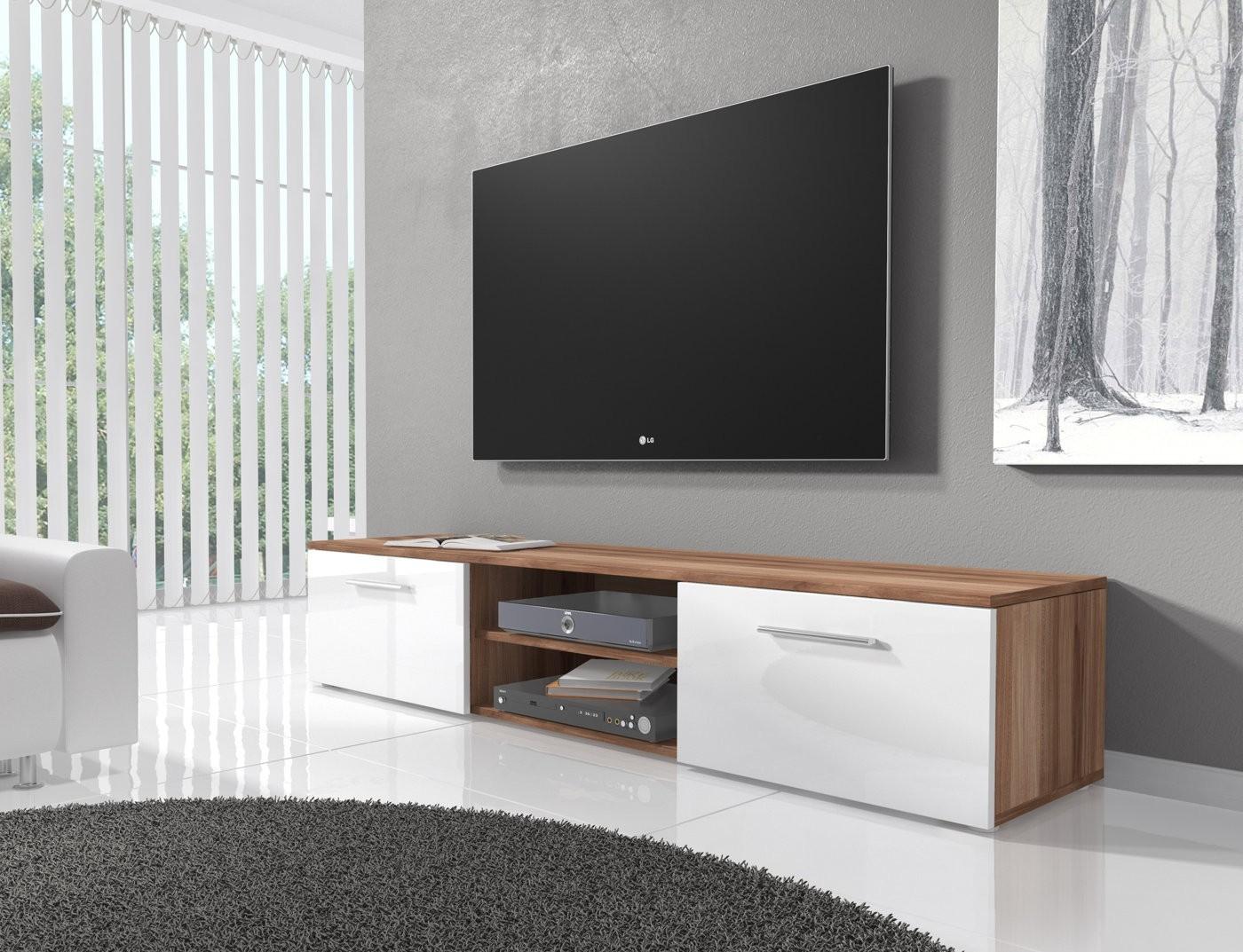 Tv meubel basura i wit eiken 160 cm meubella for Tv meubel design outlet
