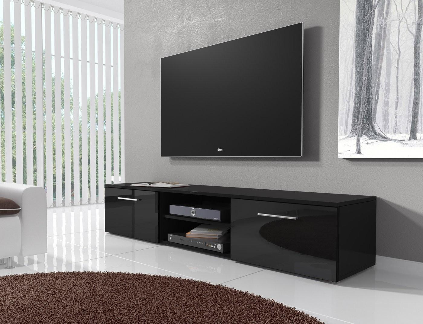 tv meubel basura i zwart 160 cm tv meubels kasten. Black Bedroom Furniture Sets. Home Design Ideas