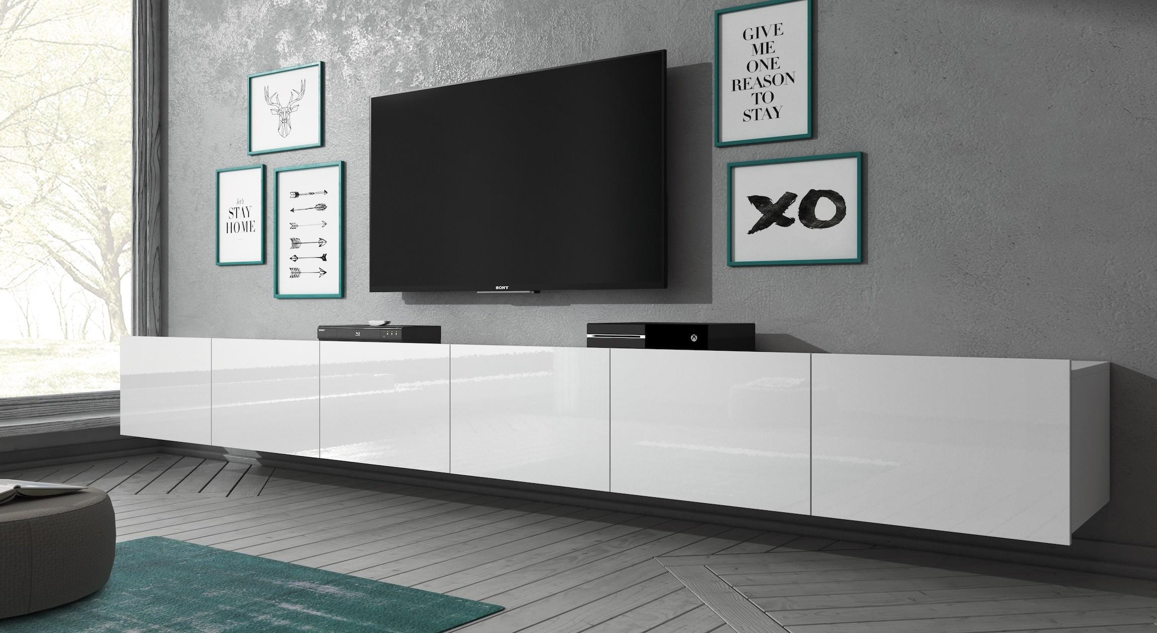 Tv Kast Hangend : Tv meubel calgary wit cm hangend meubella