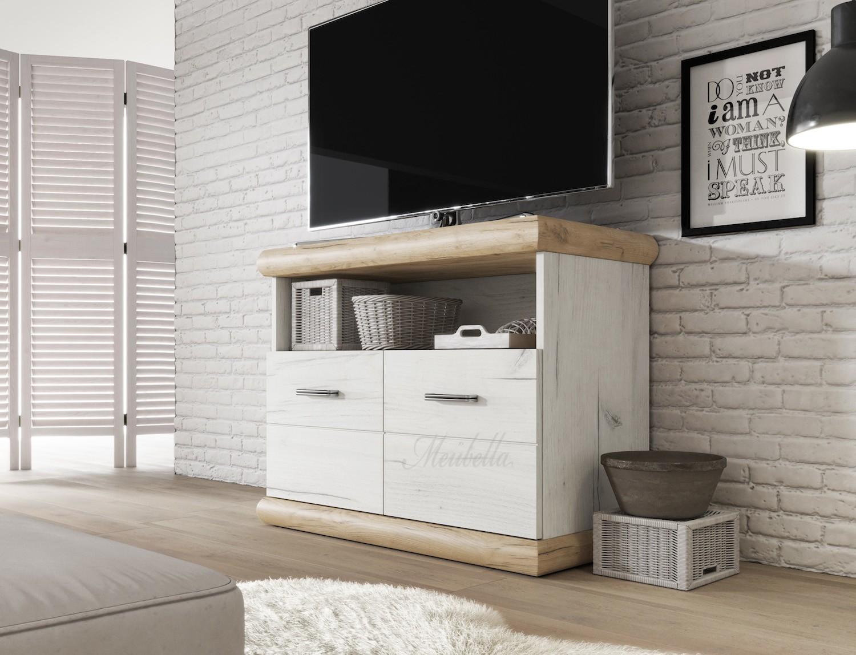Licht Eiken Meubelen : Tv meubel crown wit licht eiken cm actie meubella