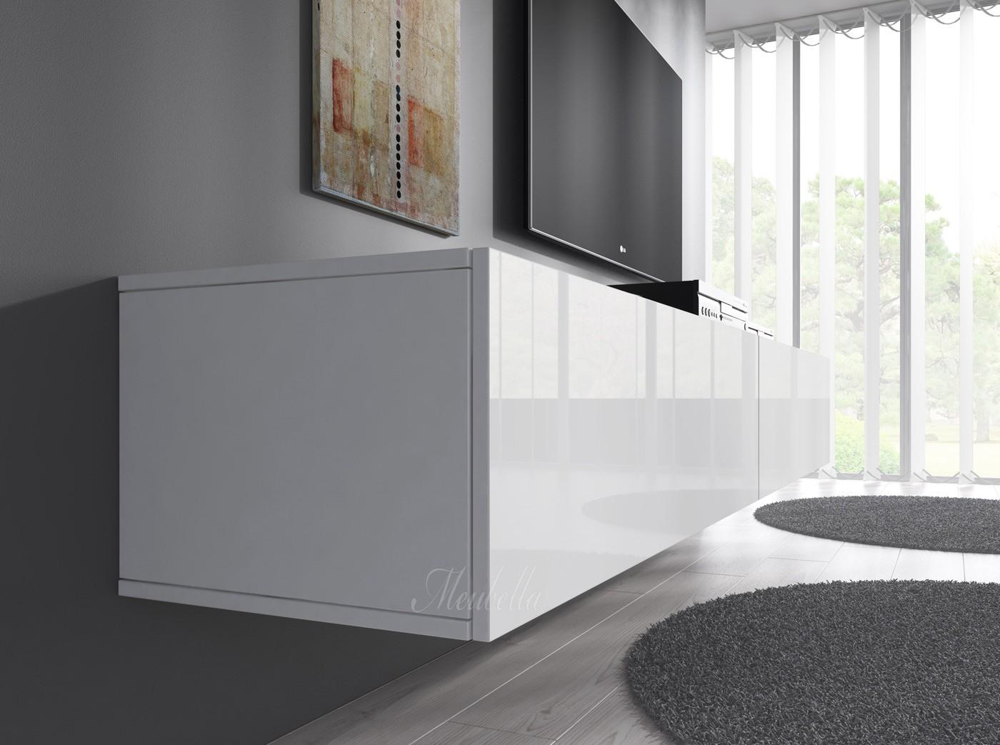 Witte Tv Meubel : Tv meubel op maat vlugt interieurs