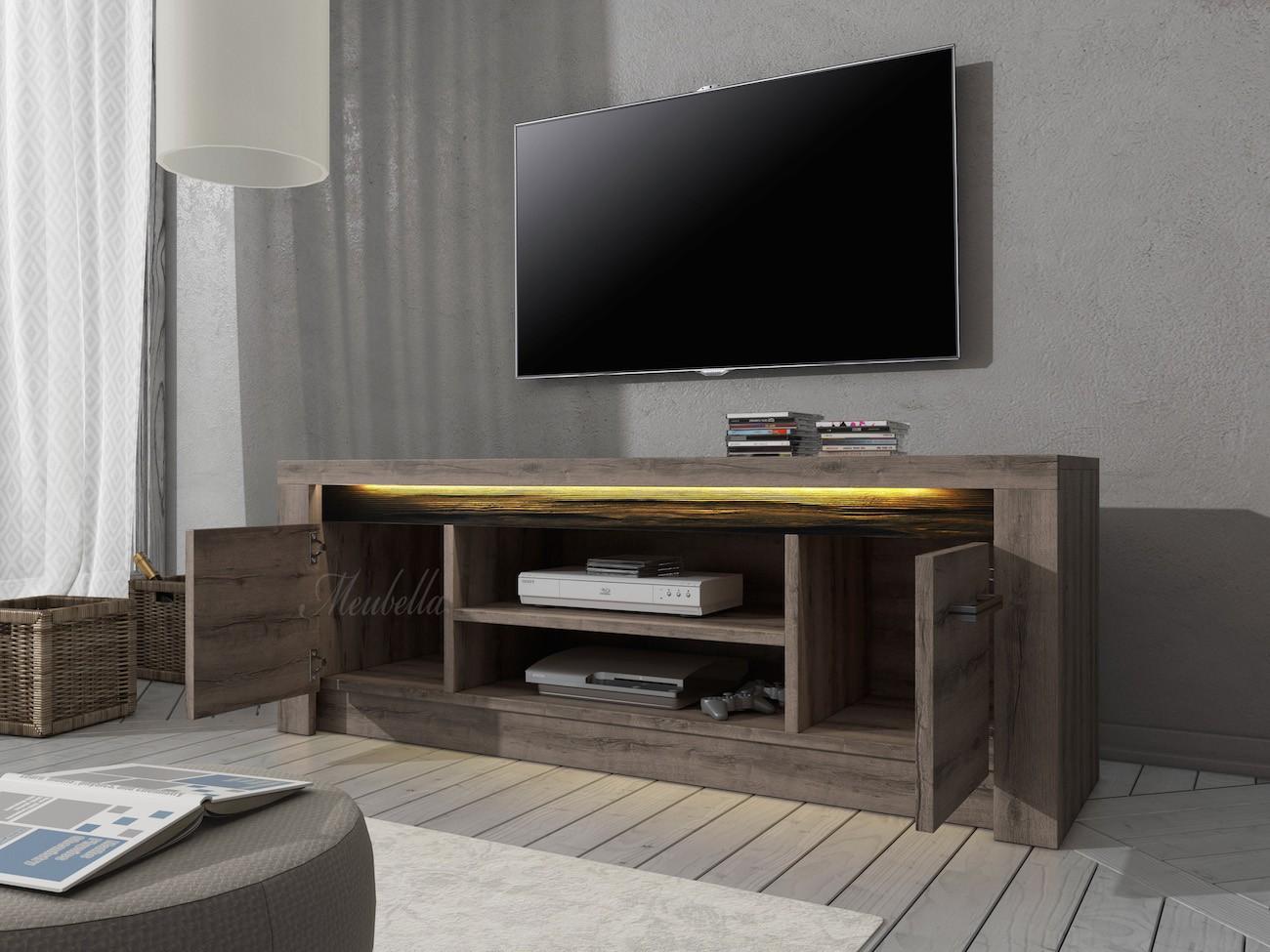 Tv meubel invido donker eiken 137 cm actie tv for Showroommodellen design meubels