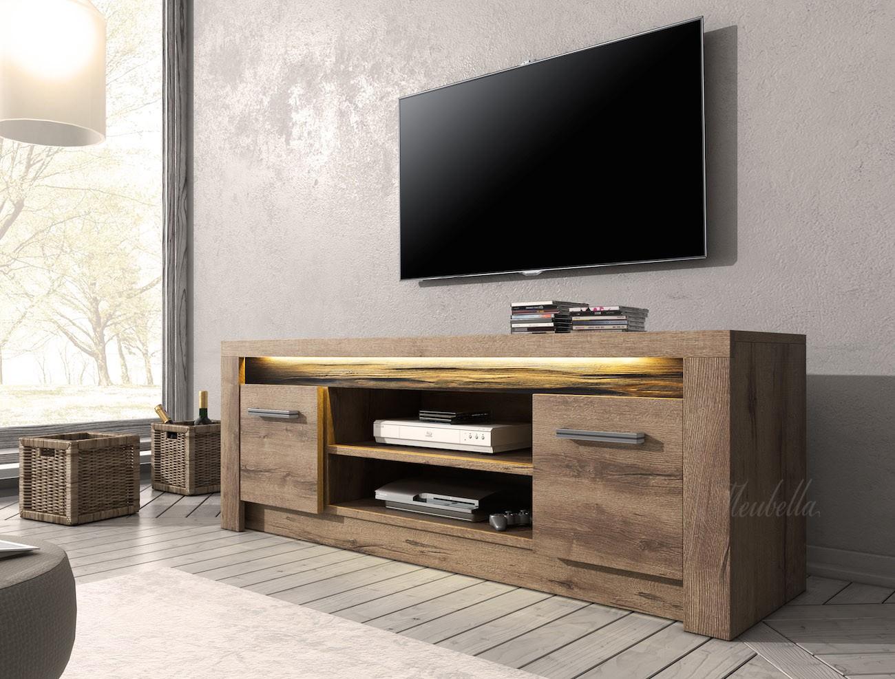 Tv meubel invido eiken 137 cm actie tv meubels for Eiken tv meubel