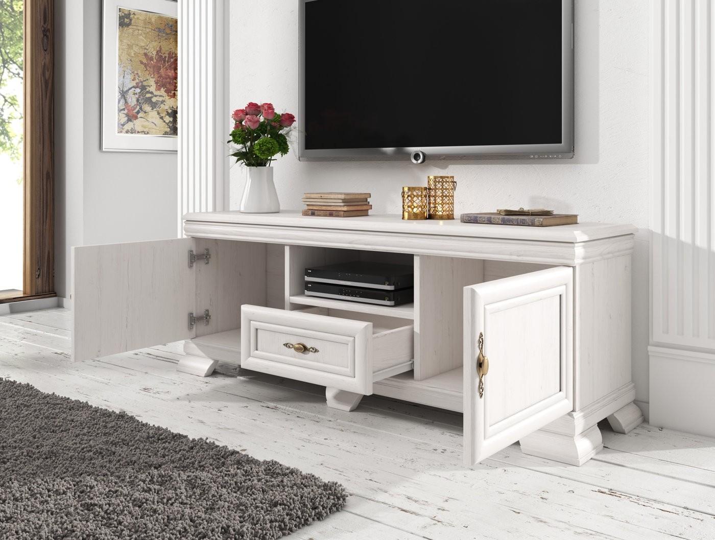 Tv meubel kresto wit 158 cm meubella for Showroommodellen design meubels