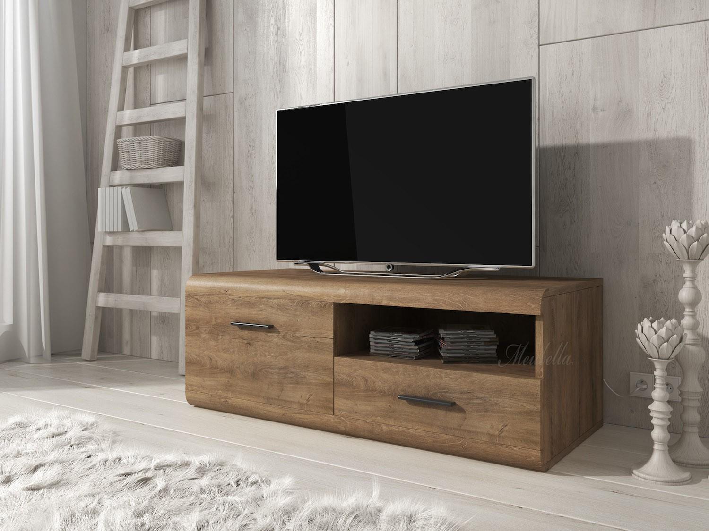 tv meubel levi eiken 120 cm meubella. Black Bedroom Furniture Sets. Home Design Ideas