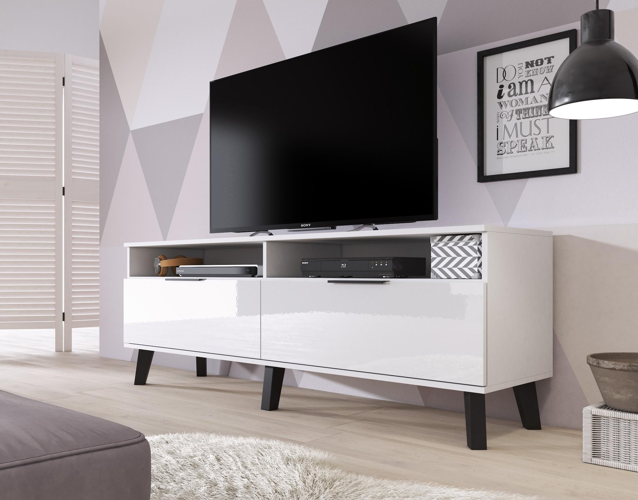Stevige Tv Kast.Tv Meubel Sandy Wit 160 Cm Meubella