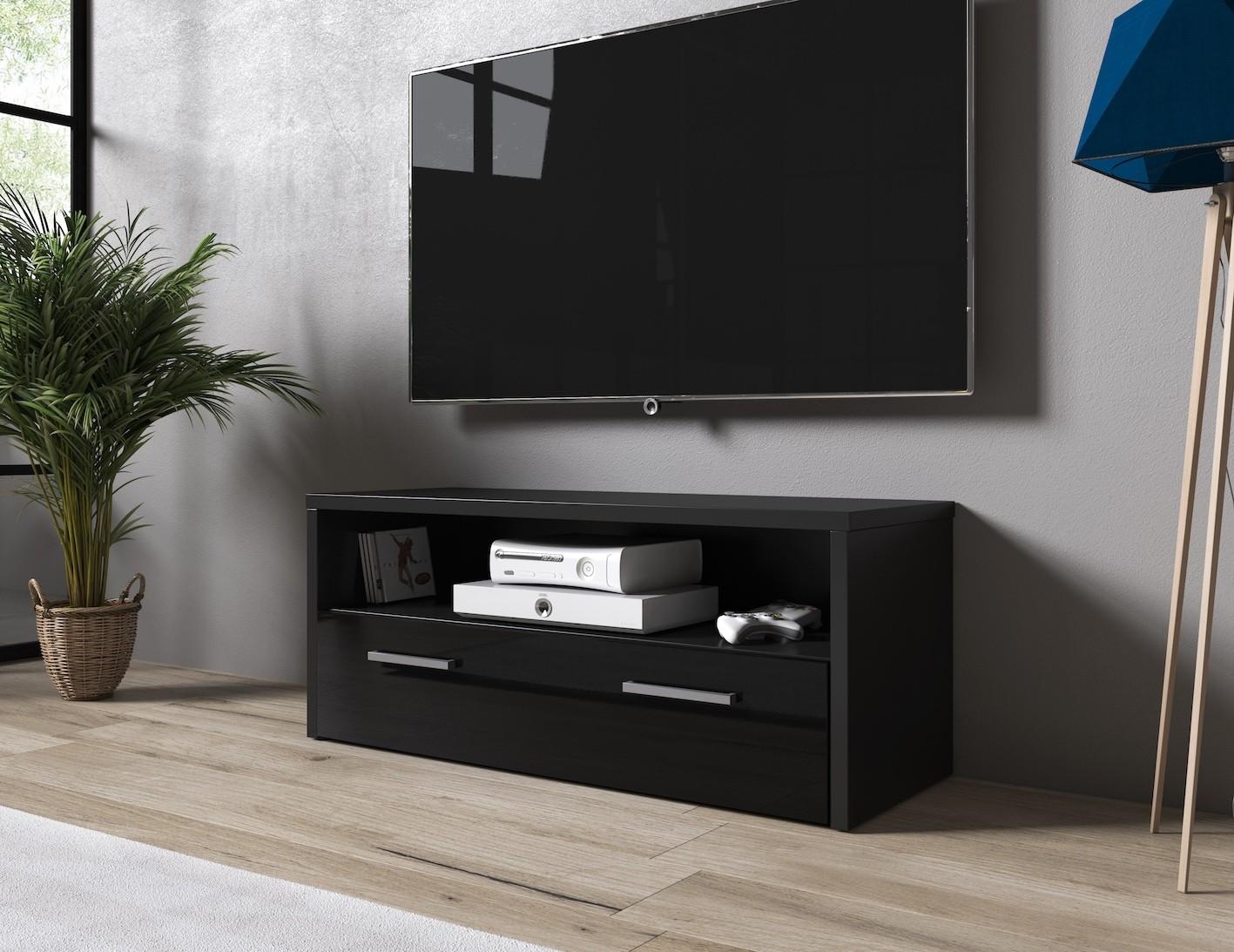 Tv Meubel Zwart Mat.Tv Meubel Trente Zwart 100 Cm Meubella
