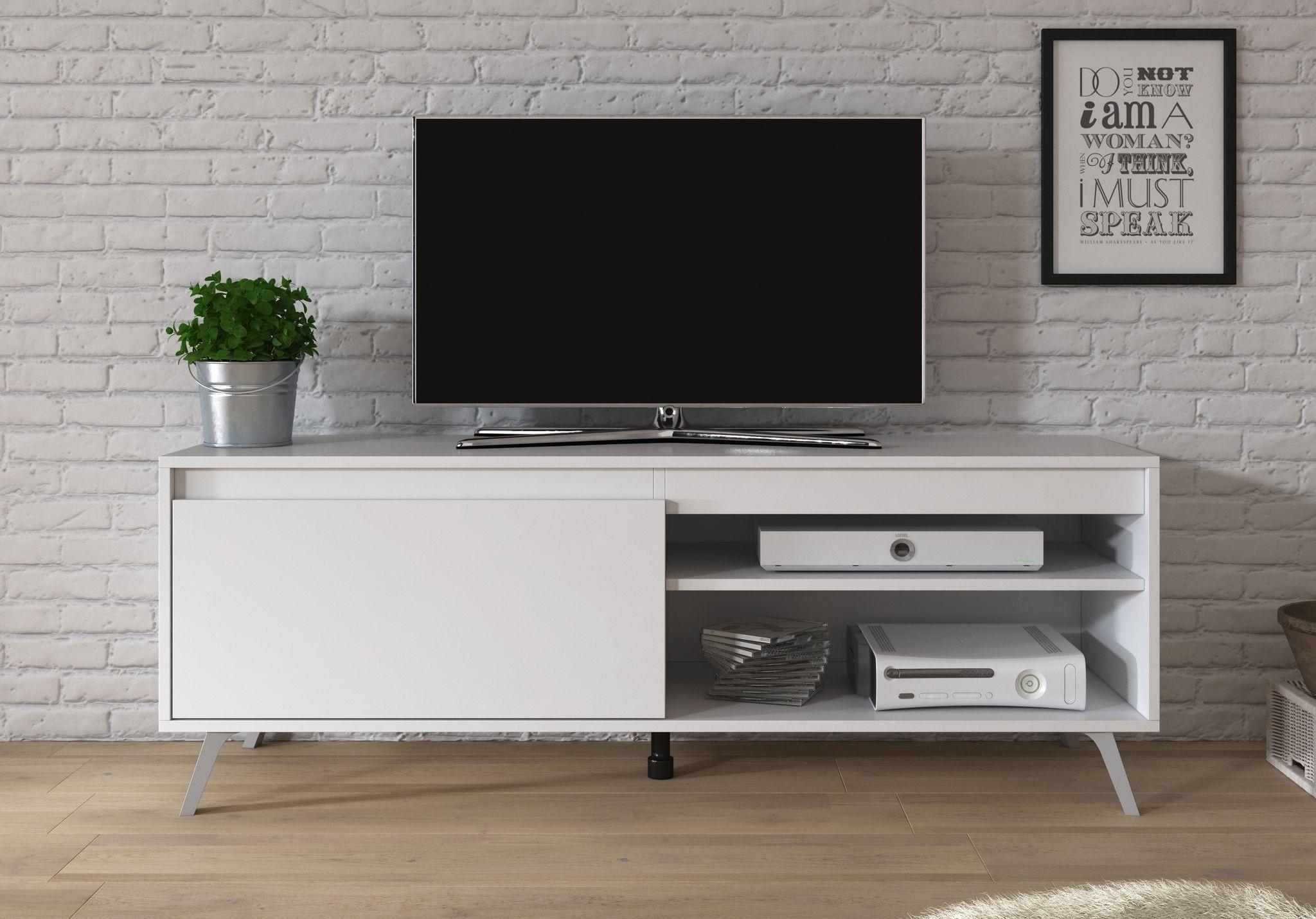 Tv Meubel Danon Wit 138 Cm Meubella