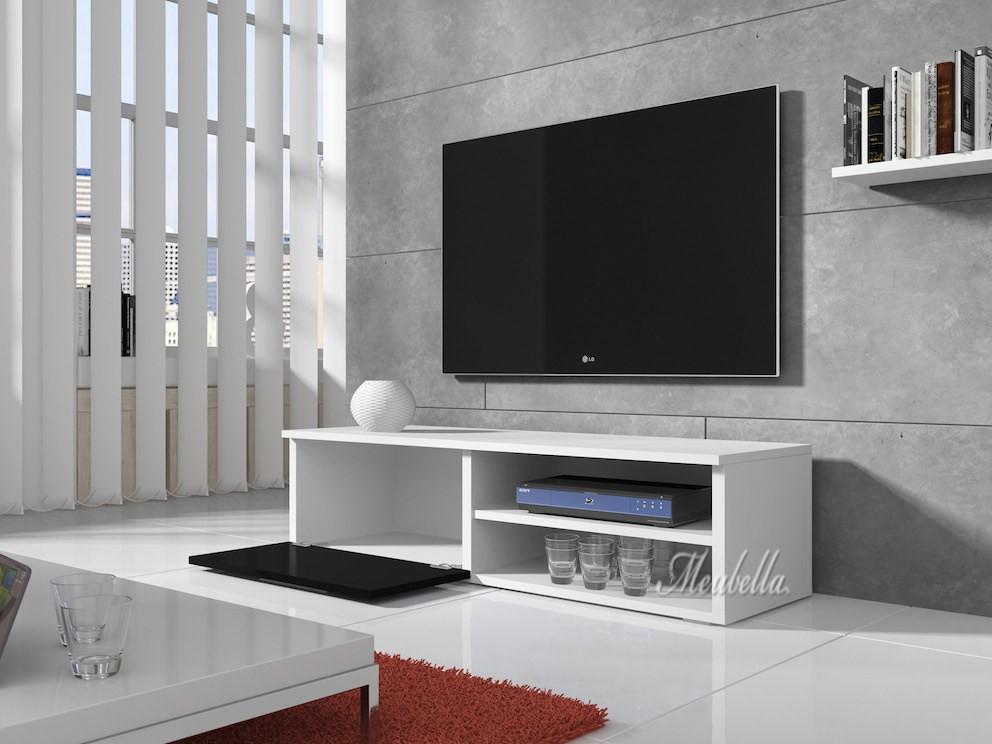 tv meubel bash zwart wit 120 cm meubella