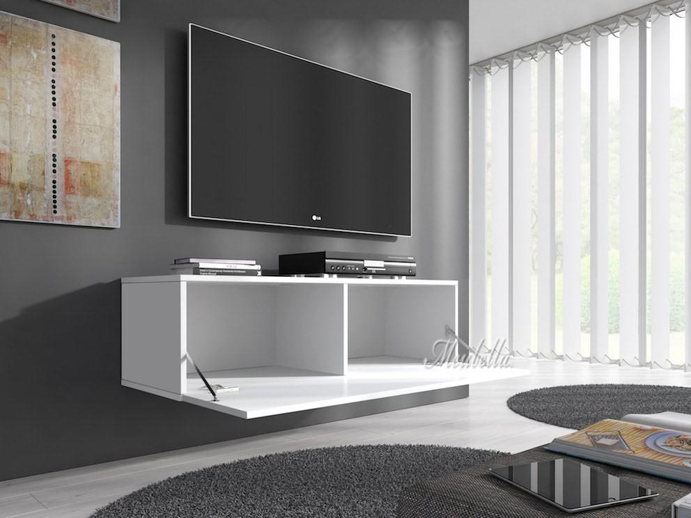 tv meubel flame wit 100 cm meubella. Black Bedroom Furniture Sets. Home Design Ideas