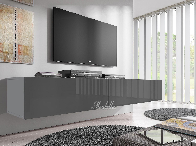 Woonkamer Tv Kast : Tv meubel flame grijs wit cm meubella