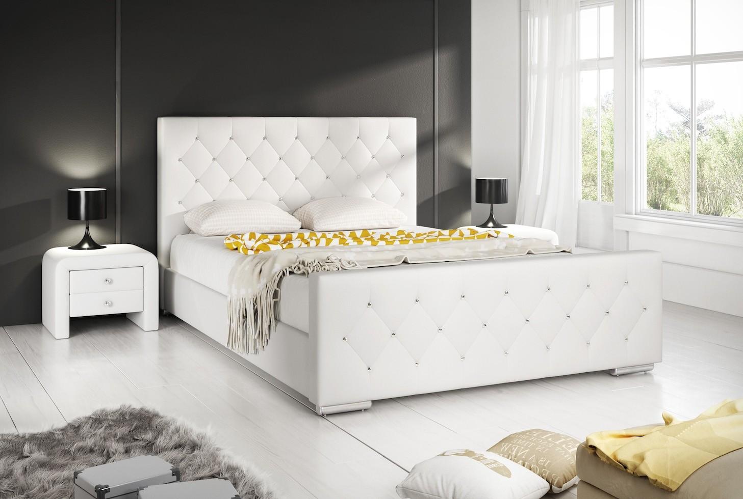 Tweepersoonsbed Beter Bed.Tweepersoonsbed Aventura Diamond Wit 180x200 Cm Meubella