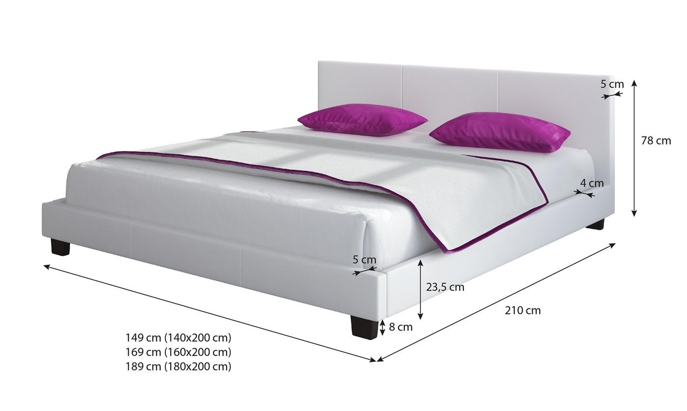 Tweepersoonsbed Beter Bed.Tweepersoonsbed George Wit 140x200 Cm Actie Meubella