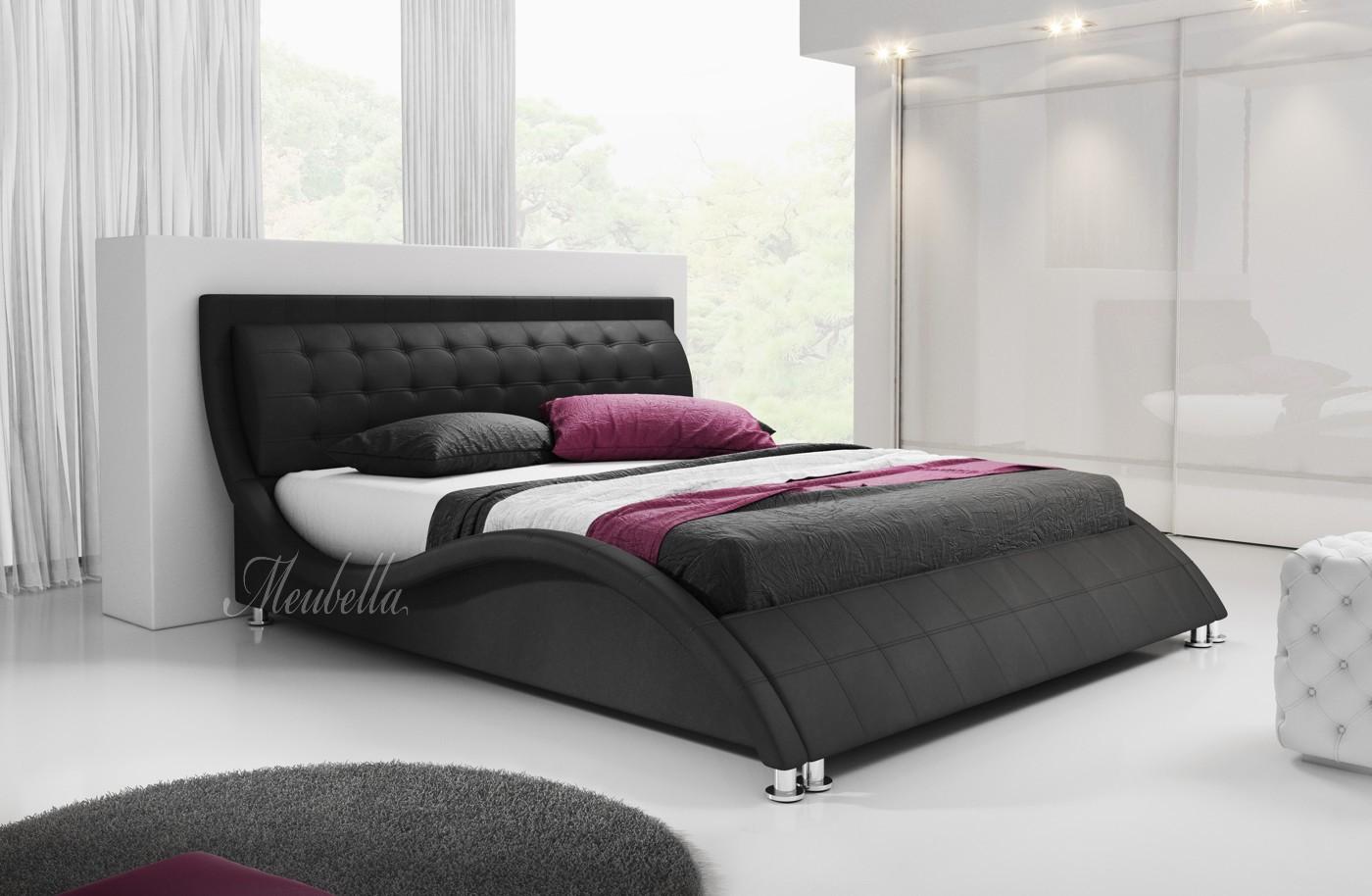 tweepersoonsbed sumoya zwart 180x200 cm meubella. Black Bedroom Furniture Sets. Home Design Ideas