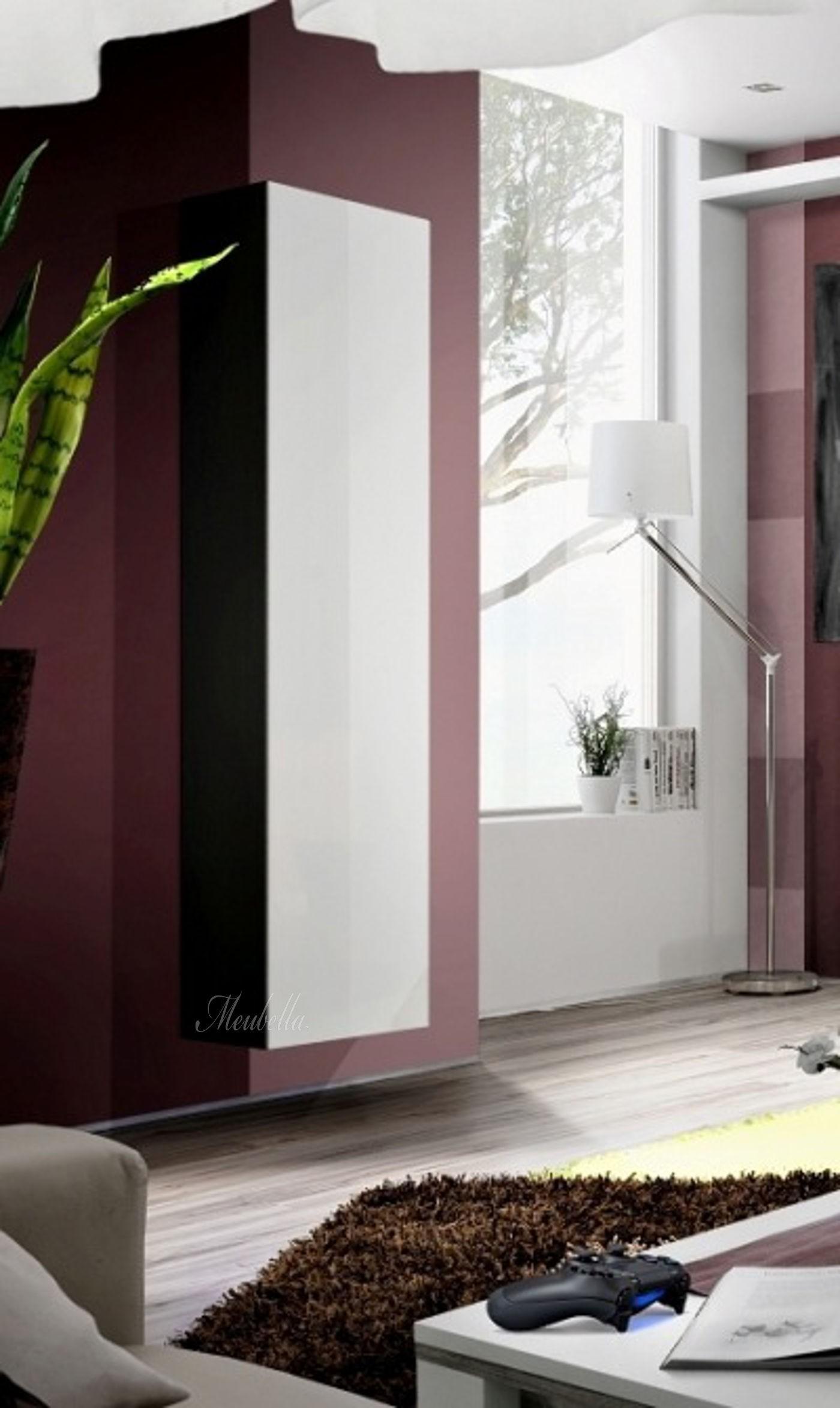 Kast Nina 4 - Wit met zwart - Kasten - Kasten en vitrinekasten ...