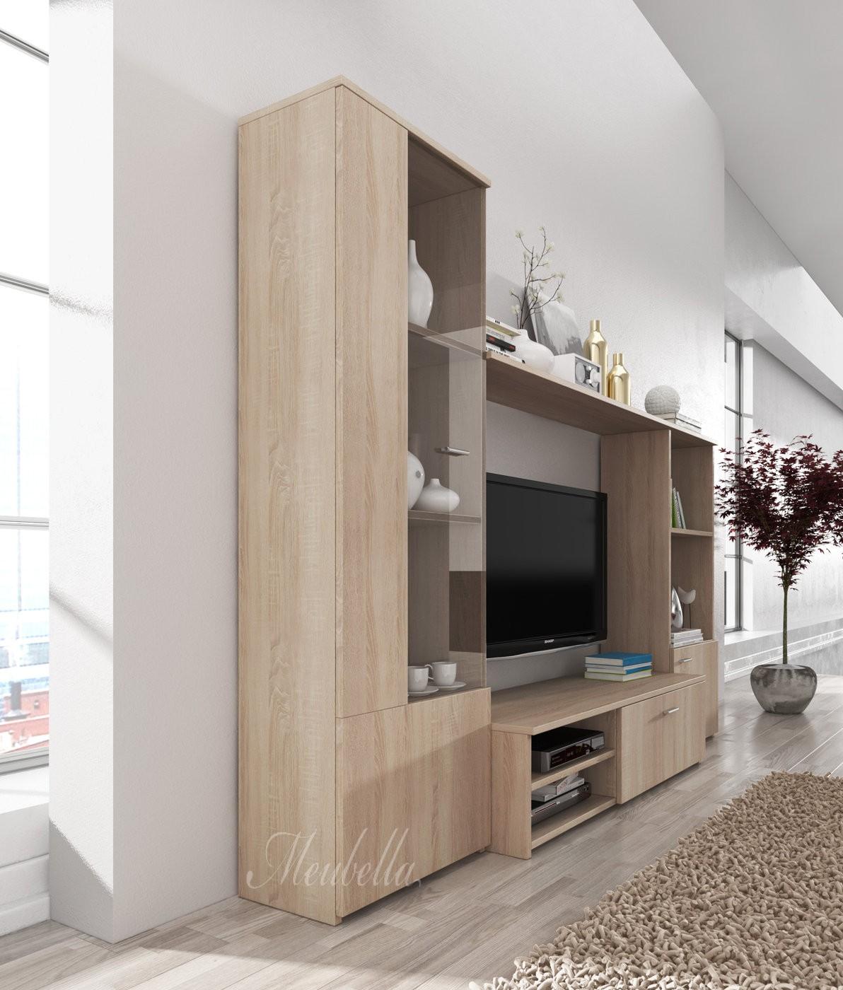 Wandmeubel Heat - Licht eiken - Wandmeubels - Kasten en vitrinekasten ...