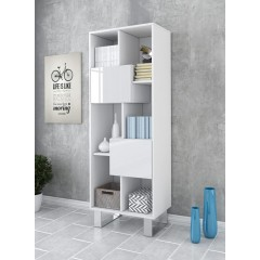 Boekenkast Knight - Wit - 60 cm