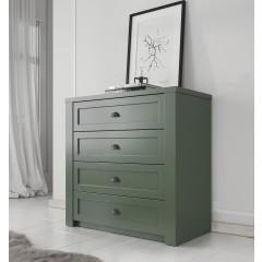 Commode Parello - Groen - 88 cm