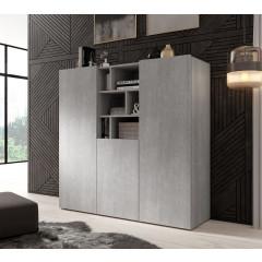 Dressoir Arizona - Betonlook - 132 cm - Hoog