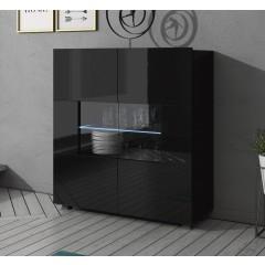Dressoir Calgary - Zwart - 100 cm
