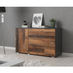 Dressoir Pure - 111 cm - Old wood - Grijs