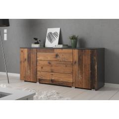 Dressoir Pure - 150 cm - Old wood - Grijs