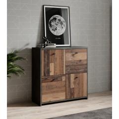 Dressoir Sahara 2 - Old wood - Grijs - 77 cm