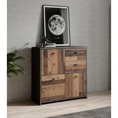 Dressoir Sahara 3 - Old wood - Grijs - 77 cm