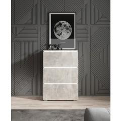 Dressoir Verity 1 - Betonlook - 60 cm - Hangend of Staand - ACTIE