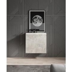 Dressoir Verity 4 - Betonlook - 60 cm - Hangend of Staand - ACTIE