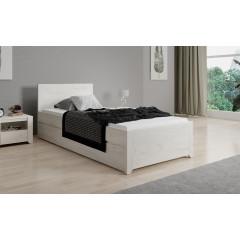 Eenpersoonsbed Aversa - Wit eiken - 90x200 cm
