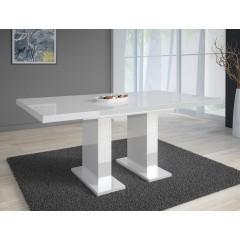 Eetkamertafel Glamour 160 - Wit - Uitschuifbaar