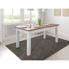 Eetkamertafel Parello 160 - Wit - Eiken - Uitschuifbaar
