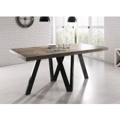 Eetkamertafel Rustic 180 - Eiken - Zwart