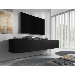 TV-Meubel Flame - Mat Zwart - 160 cm - ACTIE