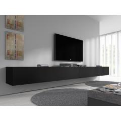 TV-Meubel Flame - Mat Zwart - 320 cm
