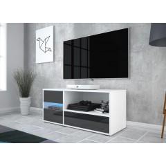 TV-Meubel Gigi - Wit - Zwart - 100 cm