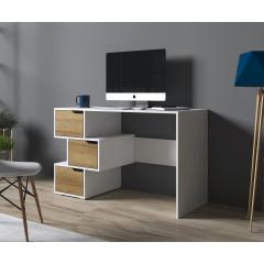Bureau Ivano - Wit - Eiken - 120 cm - ACTIE
