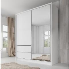 Kledingkast Sento - Wit - 180 cm
