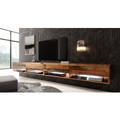 TV-Meubel Asino LED - Old Wood - 280 cm