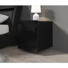 Nachtkastje Calgary - Hangend of staand - Zwart