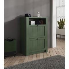 Schoenenkast Parello - Groen - 82 cm