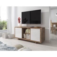 TV-Meubel Alpha - Wit - Eiken - 134 cm - ACTIE