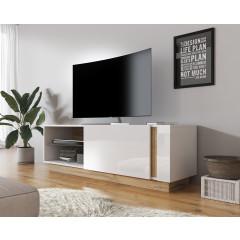 TV-Meubel Ashley - Wit - Eiken - 138 cm