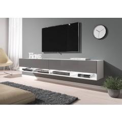 TV-Meubel Asino LED - Grijs - Wit - 200 cm