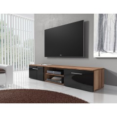 TV-Meubel Basura I - Zwart - Eiken - 160 cm - ACTIE